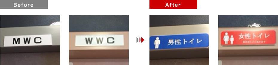 トヨタカローラ京都(桂店)標示案内プレート
